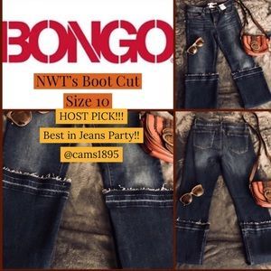 ♦️HP!!♦️NWT Boho Gypsy BONGO Boot Cut Jeans 10 MED